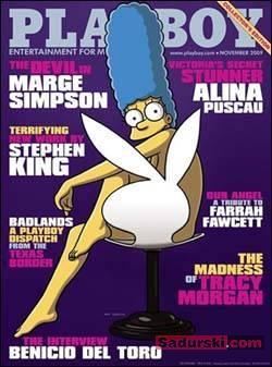 Playboy cover with Marge Simpson